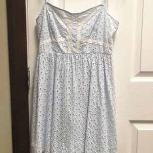 H&M Perforated Baby Doll Dress